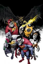 Cover to Action Comics #857 featuring the Bizarro Justice League