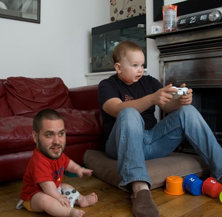 Manbabies Playing Video Games