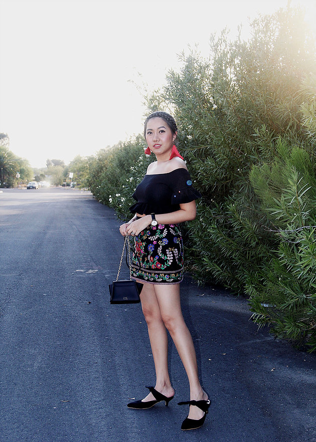 Summer Embroidered Skirt