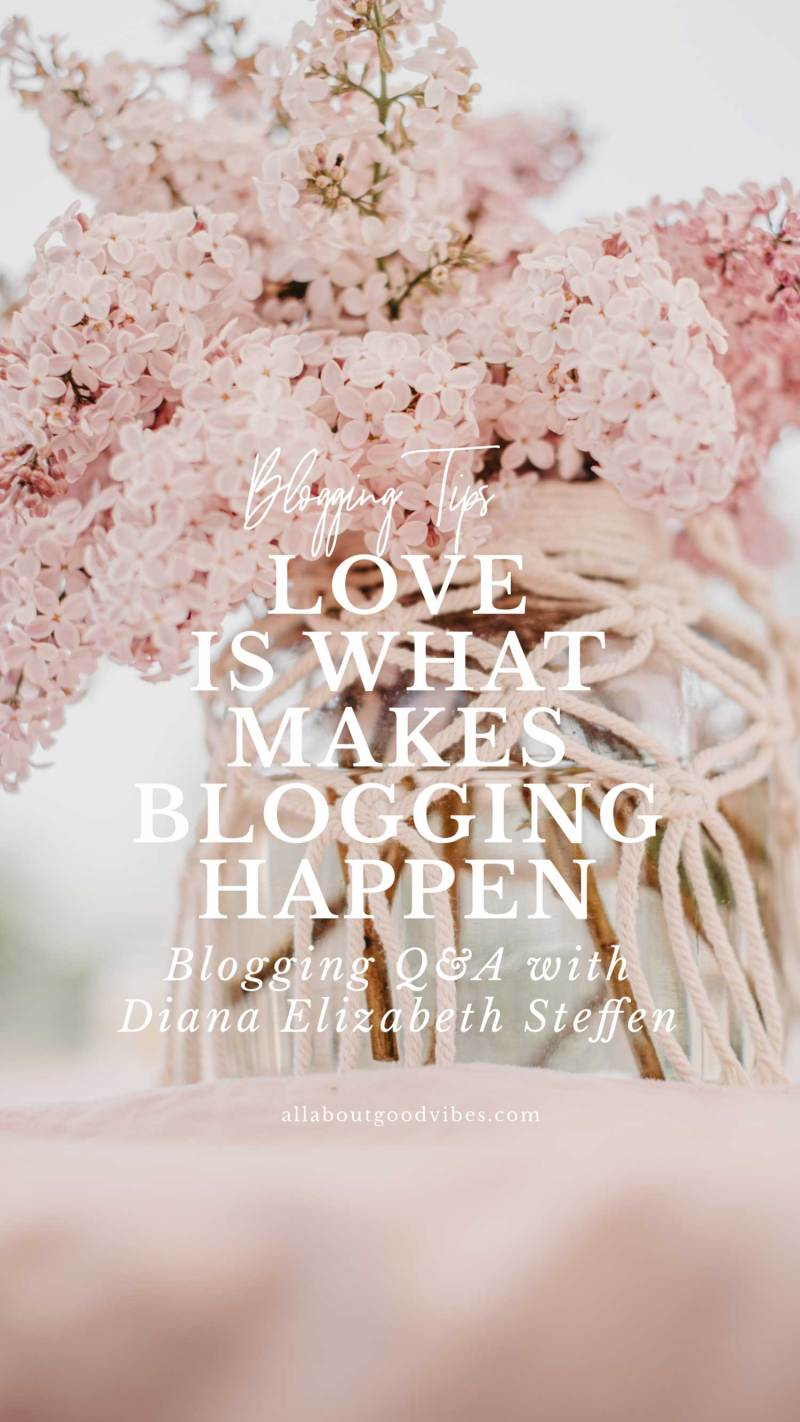 Blogging Q&A with Diana Elizabeth Steffen
