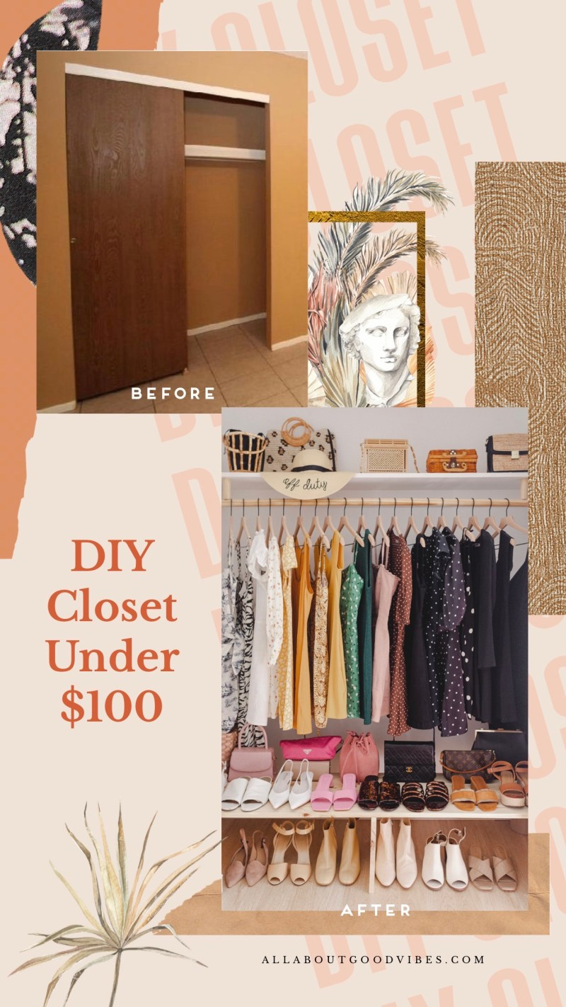 DIY Closet Under $100 | Guest Bedroom