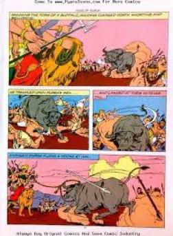 Mahisharura charging towards Durga