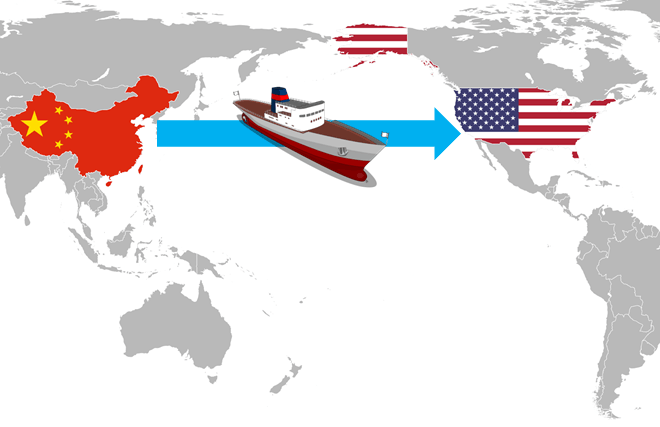 Shipping from China to the USA