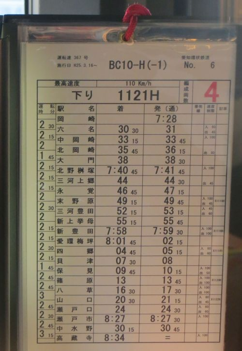 Japanese Timetable