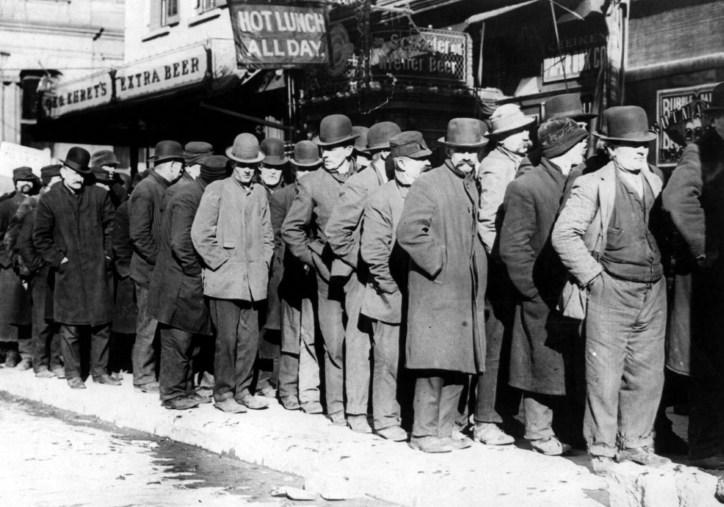 Men waiting