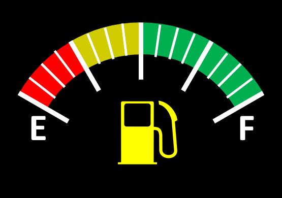 Fuel Gauge Red Yellow Green