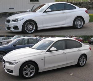 BMW 2 and 3 series
