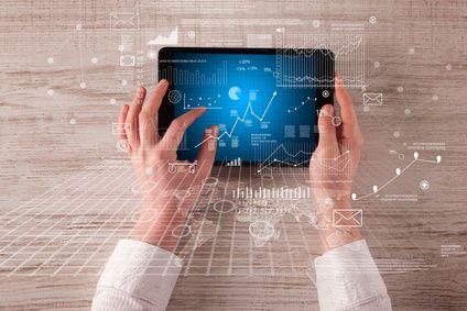 Business hands holding tablet