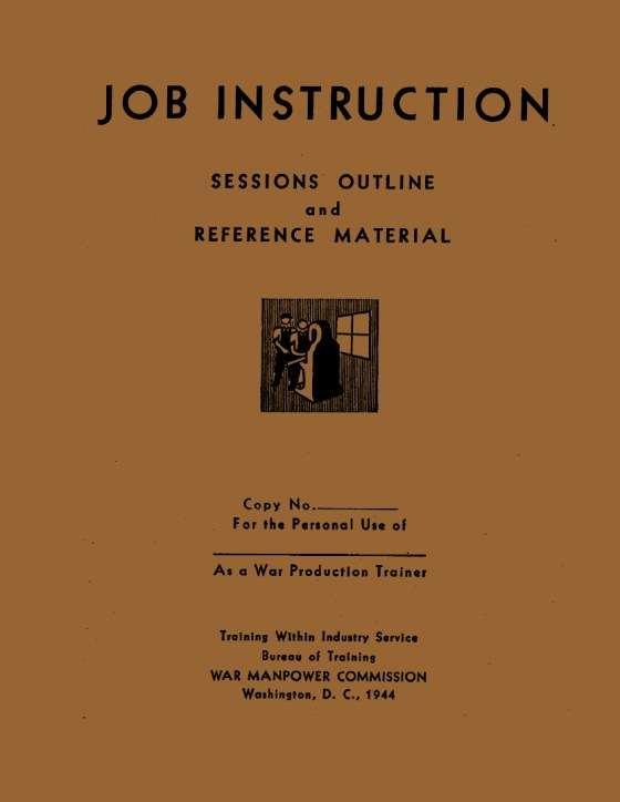 Cover of Job Instructions Session Outline and Reference Material