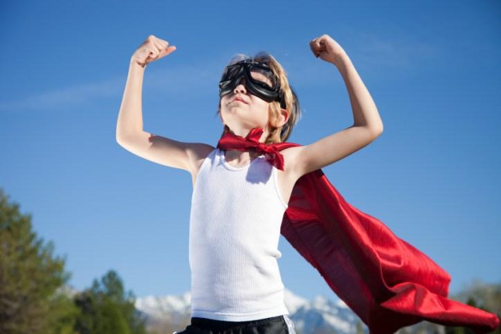 Superhero Boy with Cape