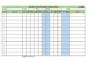 Toyota Standard Work Sheets PDF | AllAboutLean.com