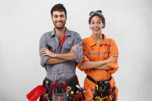 Male and Female Worker