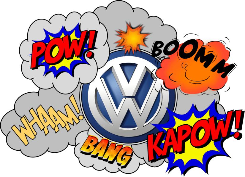 Volkswagen Cartoon Fight