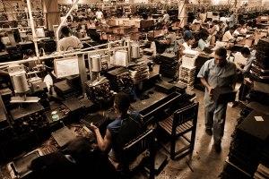 Handmade cigar production, process. Shopfloor of Tabacalera de Garcia Factory. Casa de Campo, La Romana, Dominican Republic.
