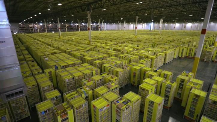 Amazon Kiva Floor Overview