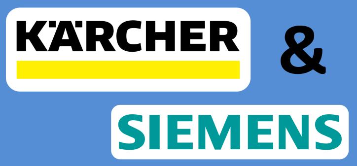 Logo Kärcher and Siemens