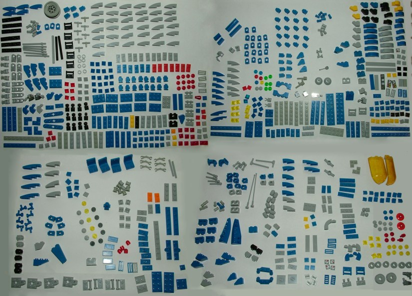 Lego Space Ship Package Content