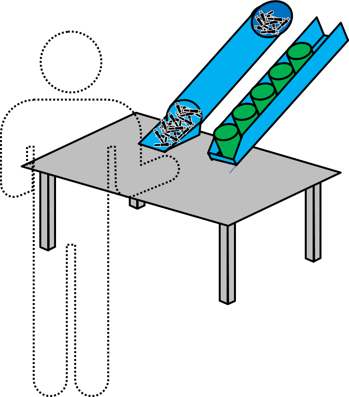 Material Supply over Table
