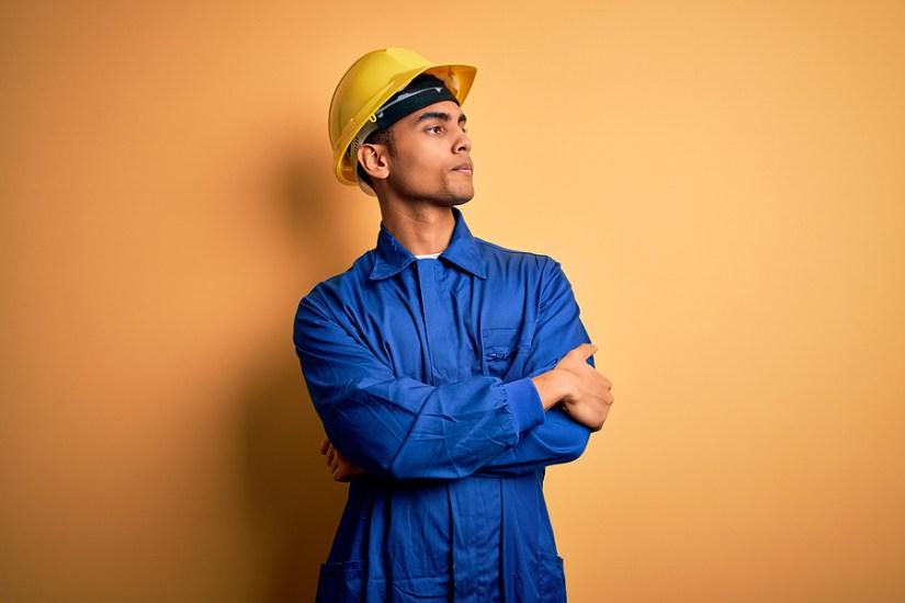Skeptical Worker