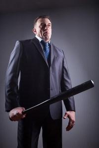 Manager with Baseball Bat