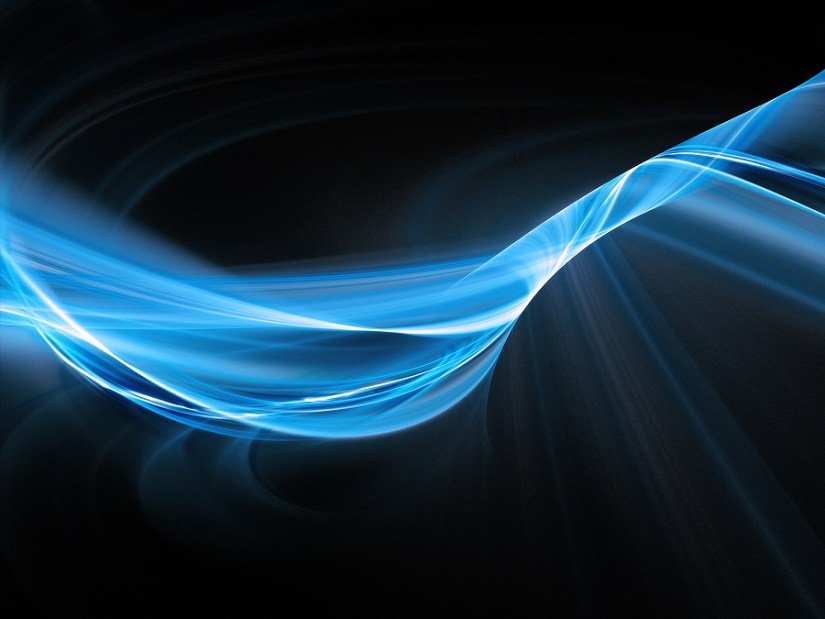 Abstract Wave Blue