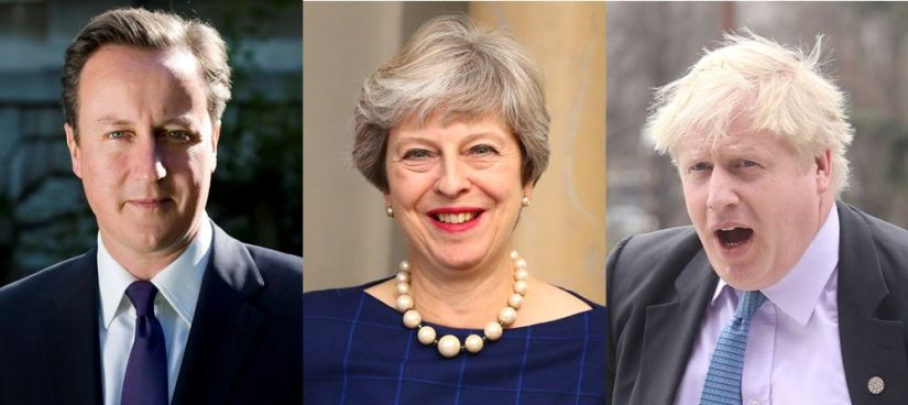 Brexit Prime Ministers Cameron May Johnson