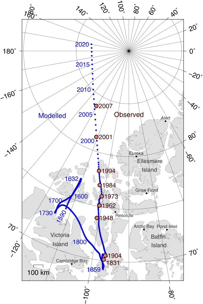 Magnetic North over Time