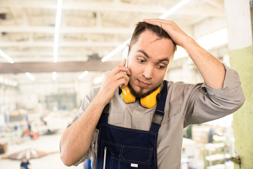 Confused Worker