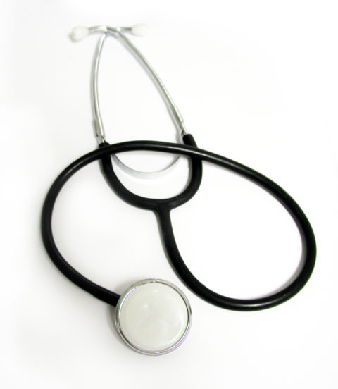 A medical stethoscope.
