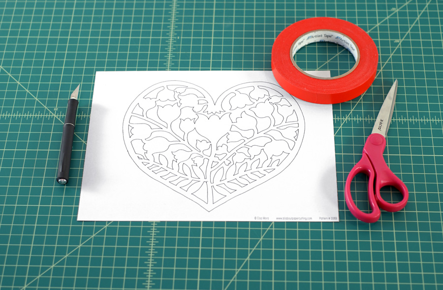Paper Heart Tutorial.
