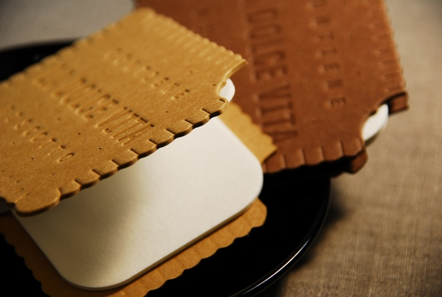 Made of Paper. Biscuit and Chocolate Greeting Cards.
