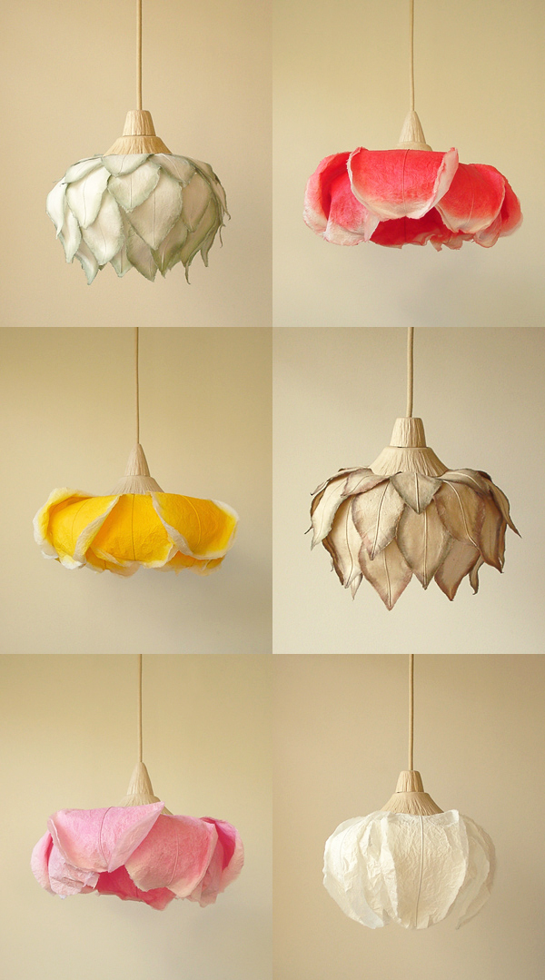 Beautiful Paper Lamps by Sachie Muramatsu.