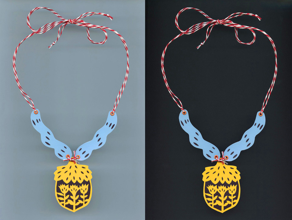 DIY Laminated Paper Necklaces. Free Patterns for You.
