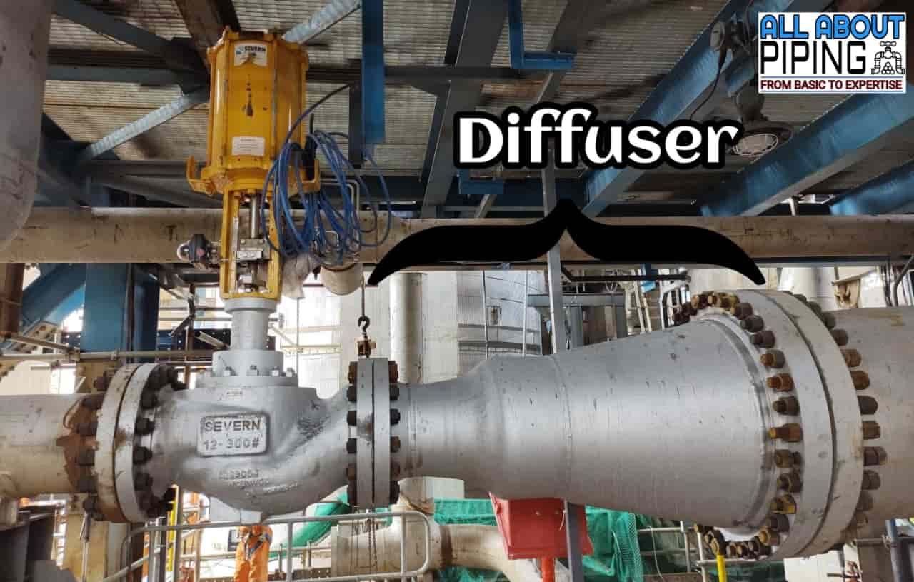 Control valve and diffuser assembly