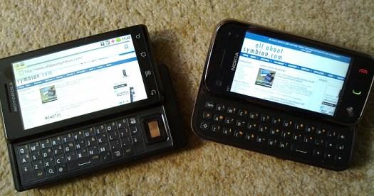 Motorola Milestone vs Nokia N97 mini