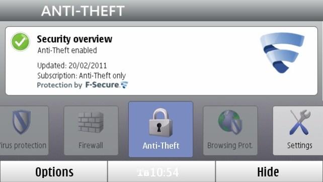 f-secure anti-theft - бесплатное приложение от компании f-secure для платформ android, symbian