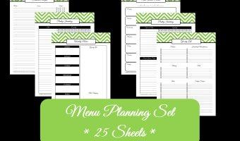 Household Binder – Meal Planning Set