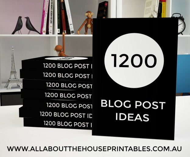 1200 Blog Post Ideas ebook printable pdf blogging blog topics what should i blog about how to come up with blog post ideas