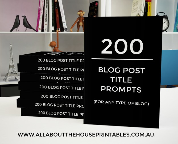 200 Blog post title prompts for any type of blog headlines blog post ideas blog topic planner printable ebook