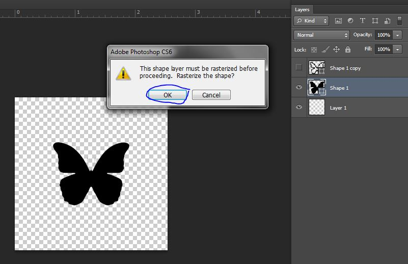 rasterize layer in photoshop