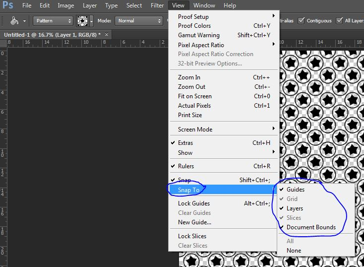 snap tool in photoshop