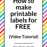 How to make printable labels for FREE (using Canva)