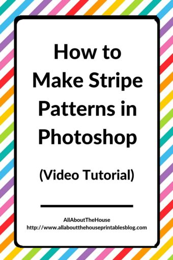 How to make stripe pattern in photoshop video tutorial graphic design surface desigb repeating pattern ecourse