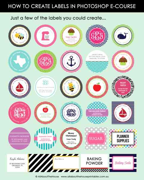 How to make your own labels in photoshop microsoft word canva printable pantry birthday gift sticker planner label address free-min