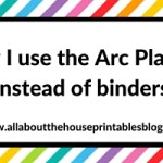 Planner Organization: Why I use the Arc Planner instead of binders
