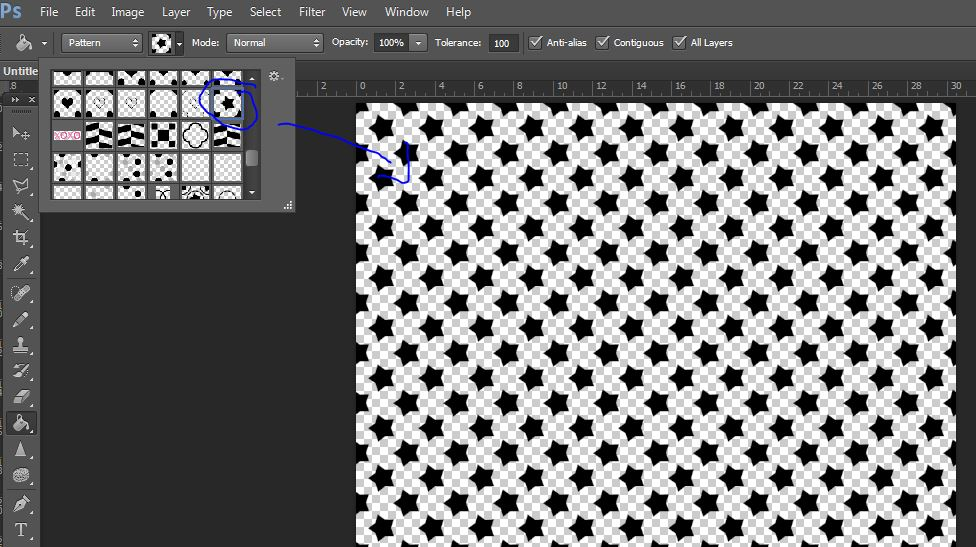 from pattern swatch to repeating pattern