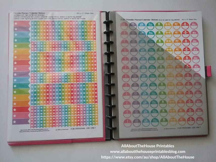 sticker organization printable planner stickers sticker binder calendar rainbow list silhouette diy print and cut arc notebook-min