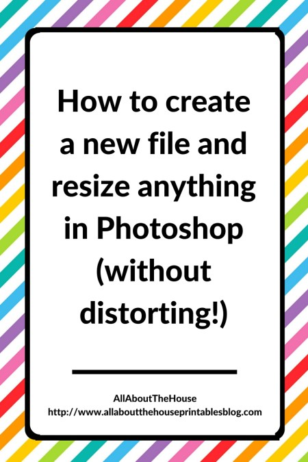 How to create a new file and resize anything in Photoshop without distorting, maintain proportions, beginner, video tutorial