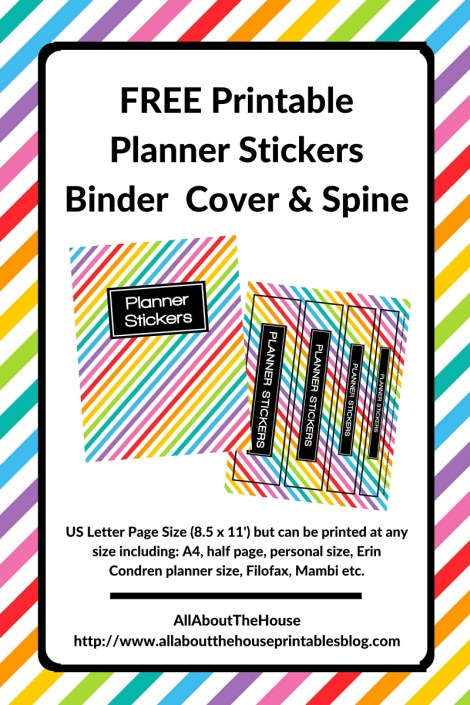 free printable planner stickers binder cover and spine how to organize planner stickers free planner stickers rainbow functional