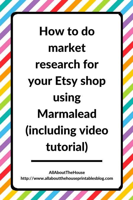 How to do market research for your Etsy shop using Marmalead (including video tutorial), seo, keyword, tags, etsy seller, planne